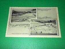 Cartolina Castagnola / Castello di Fraconalto ( Alessandria ) - Campi di sci '38