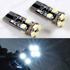 2 x White LED Parking Eyelid Light Bulbs Error Free 8-SMD