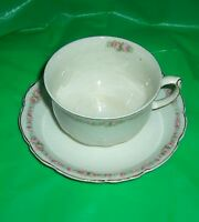 Vtg Johnson Brothers England Coffee Cup & Saucer Rose LG