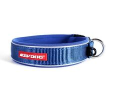 "EZYDOG REFLECTIVE PADDED NEOPRENE DOG COLLAR ""NON ROT / NON SMELL"" BLUE"