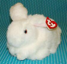 "Vtg Ty 1993 Nibbles Plush Rabbit Bunny White Stuffed 8 ½"" Long"