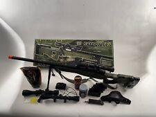 UTG L96 Custom Upgraded Sniper Rifle 500+ FPS Bundle Lot Airsoft Spring CASE