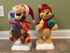 Winnie The Pooh & Tigger Disney Christmas Animated Figures