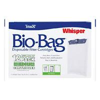 Tetra Whisper Bio-Bag Disposable Filter Cartridges Medium Unassembled Pack of 12