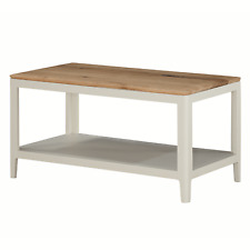 Modern White Coffee Table / Narrow Painted Coffee Table with Solid Oak Top / NEW