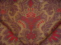 17Y CRAFTEX RUST BARK COPPER TAUPE FLORAL DAMASK DRAPERY UPHOLSTERY FABRIC