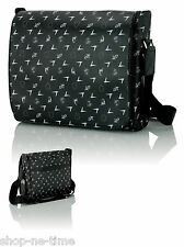 Signature Lamborghini Monogram Black Shoulder Bag Matching Luggage Tag - New
