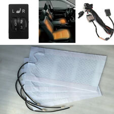 4Pad Car Seat Cushion Heater Warmer Carbon Fiber Winter with 5-level Switch 12V