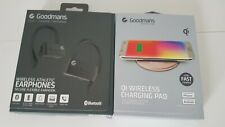Goodmans Wireless Athletic Sport Earphones - Black, Hands Free, No Wires!