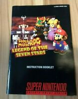 Authentic - Super Mario RPG  *Collector Quality* - SNES - Manual Only - Rare