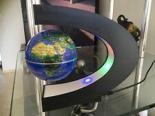 C Shape LED World Map Decoration Black  Magnetic Light Levitation Floating Globe