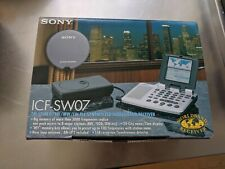 Sony ICF-SW07 World Band Shortwave Portable Radio Reciever FM/SW/MW/LW Rare!