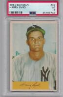 HARRY BYRD 1954 Bowman #49 Graded PSA 3 VG