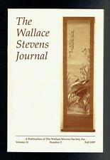 The Wallace Stevens Journal Volume 21 Number 2 Fall 1997 VG