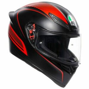 New AGV K1 Helmet Warmup Matte Black/Red #750192342
