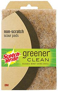 Greener Clean Scour Pad, Non-Scratch, 3-Pk. -97223-3-12