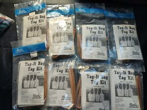 New Lot Of 8 Tandy Tag -it Bag Tag Kit Stock No. 4164