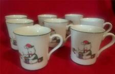 Memories by Anchor Hocking 7 Vintage Mugs Christmas Farmhouse Japan Discontinued