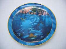 "Royal Doulton Where Dolphins Dance Collector plate 8"" Conservation International"
