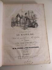 recueil de partitions anciennes de musique signées PIANO HARPE Partition sheet