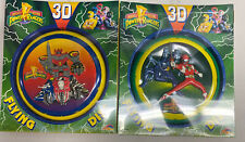 Spectra Star Mighty Morphin Power Rangers 3D Flying Disc Set Of 2 1994
