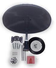 4 WAY QUAD LNB MINI DISH ZONE 1 MK4 SKY SATELLITE 20M BLACK CABLE - MEGA DIY KIT