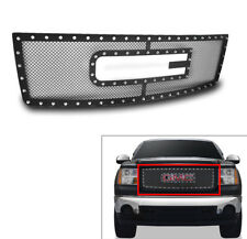 GMC 2007-13 SIERRA 1500 NEW BODY MAIN UPPER RIVET MESH GRILLE INSERT LOGO CUTOUT