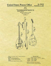 Display Art Print US PATENT for VOX PHANTOM MKIII Teardrop GUITAR 1967 MK3