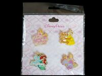 Disney Princesses / Princess Quote Booster 4 Pin Set Belle Aurora Ariel Rapunzel