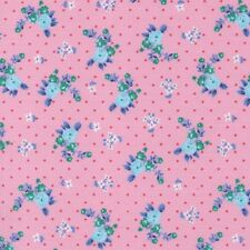 GIGI - PINK - DELIGHTFUL TINY FLORAL COTTON POLY FABRIC per m SHABBY FRENCH CHIC
