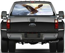Bald Eagle Freedom Fly Version 3 Rear Window Graphic Decal Truck SUV