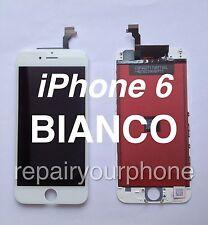 "TOUCH SCREEN FRAME VETRO LCD DISPLAY RETINA SCHERMO 4.7"" APPLE IPHONE 6 BIANCO"