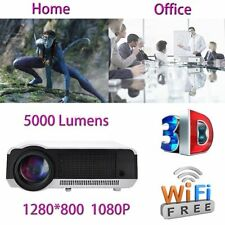 5000 Lumens Full HD 1080P LED LCD 3D WIFI HDMI Office Home Theater Projector AP