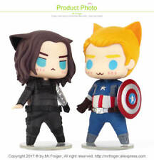 2Pcs/Set The Avengers Captain America and Buggy Action Figures Toys Kawaii