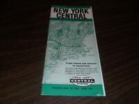 APRIL 1962 NEW YORK CENTRAL NYC  FORM 1001 SYSTEM PUBLIC TIMETABLE