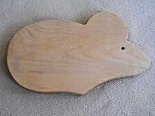 Hand Crafted Solid Maple Wooden Mouse Cutting Board / Cheese Server / NEW