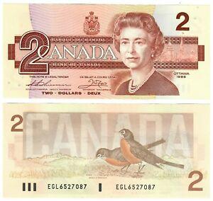 """Canada 2 Dollars 1986 UNC """"EGL"""" Thiessen-Crow"""