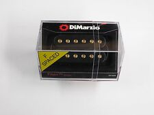 DiMarzio F-spaced Titan Bridge Humbucker Black W/Gold Poles DP 259
