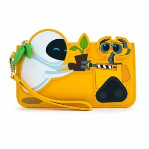 Loungefly Pixar Wall-e Walle and Eve Boot Plant Flap Wallet Women Men NEW