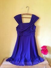 Next petite size 10 grecian purple 50's vintage look wedding bridesmaid dress