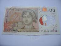 LUCKY £10 NOTE JANE AUSTEN TEN POUND BIRTHDAY & ANNIVERSARY 24 08 63 AUGUST 1963