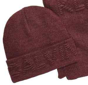Brand New Calvin Klein Men's Ottoman Logo Hat & Scarf 2pc Set
