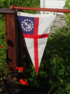 Used Burgee Boat Flag Corinthian Club of Philadelphia Good Condition