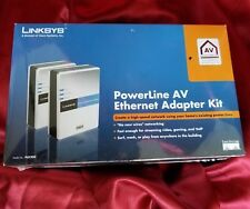 Linksys a division of Cisco PLK200 PowerLine AV Ethernet Adapter Kit 2 adapters
