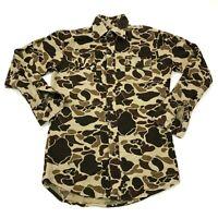 VINTAGE Camouflage Flannel Shirt Men's Size Medium M Long Sleeve Button Up 90's