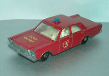 1/64 Scale Ford Galaxie Fire Chiefs Car - Vintage 1960's Matchbox Lesney MB59