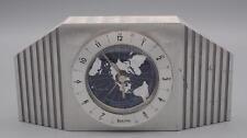 Bulova Mid Century German Movement World Time Mantle Desk Alarm Clock