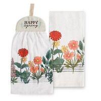 Happy Spring Tie Top Kitchen Towel 2 Pack by Kohls Celebrate Spring Together