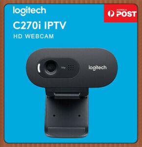 Logitech C270i Webcam HD 720P Wired USB Desktop Computer Camera Built-in Mic
