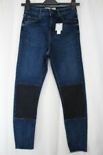 Topshop Moto Jamie Dark Blue Stretch Skinny Jeans W28 Size10 To Fit L30